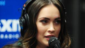 Megan Fox Speaking On Stage At Siriusxm Radio In Ny